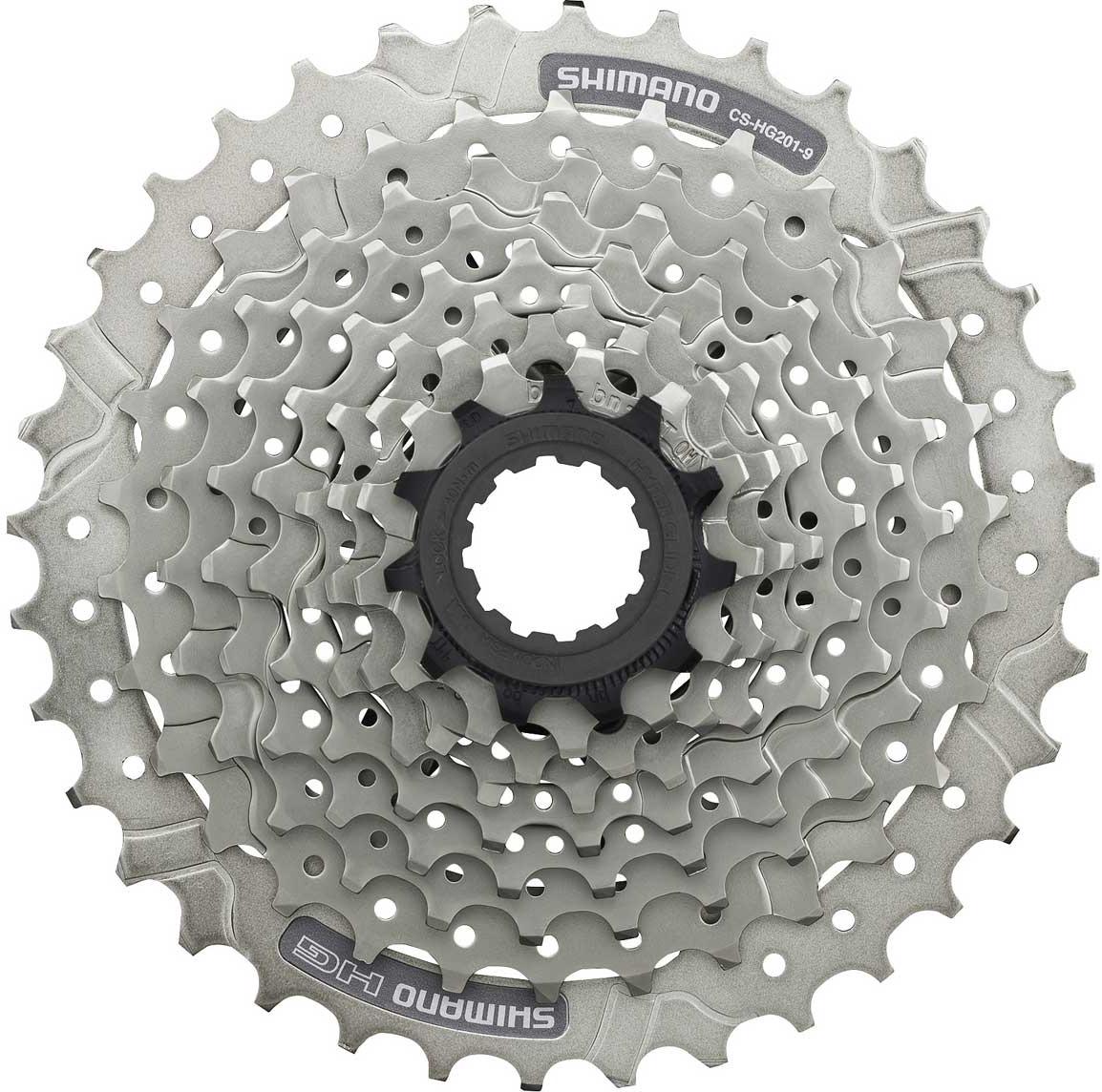 цена на Кассета для велосипеда Shimano HG201, 9 скоростей, 11-36, ECSHG2019136, серебристый