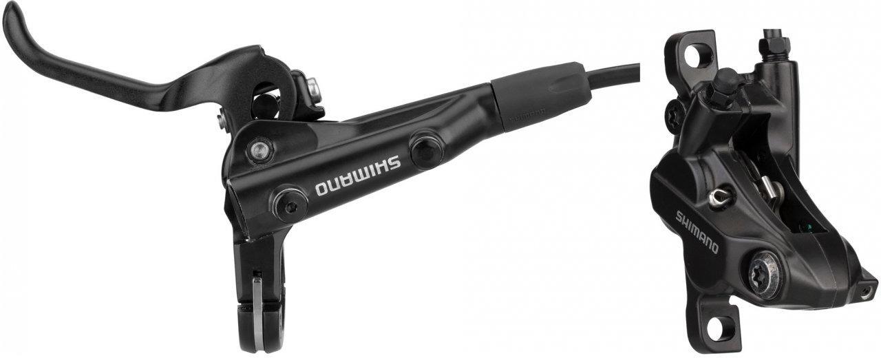 Тормоз для велосипеда Shimano MT501, BL левый/BR-MT500 передний, полимерные колодки, 1000 мм, EMT5012KLFPRA100, черный