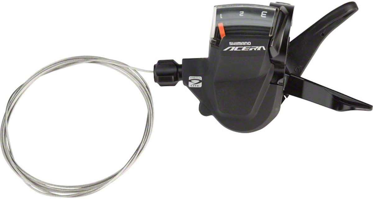 цена на Шифтер Shimano Acera, M3000, левый 3 скоростей, трос 1800 мм, ESLM3000LB
