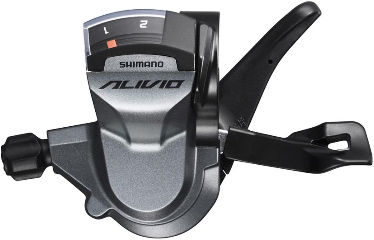 Шифтер Shimano Alivio, M4010, левый 2 скоростей, трос 1800 мм, ESLM4010LB shimano deore m590 лев пр 3x9ск тр оплетк