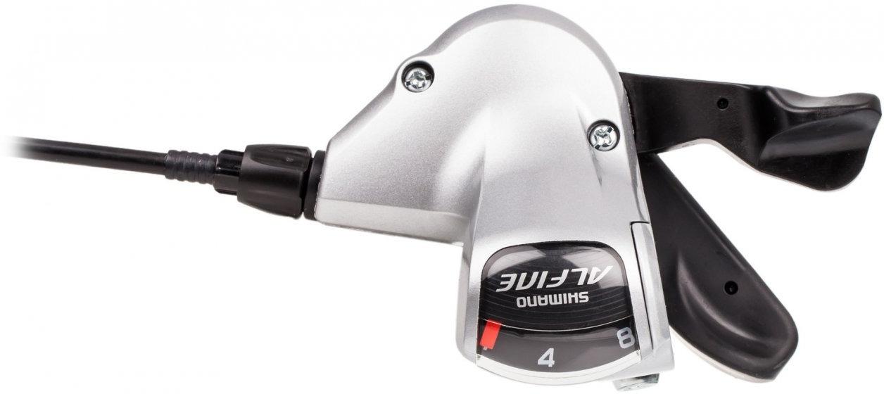 Шифтер Shimano Alfine, S503, 8 скоростей, с оплеткой, для CJ-8S20, ESLS503210LLS3, серебристый цена 2017