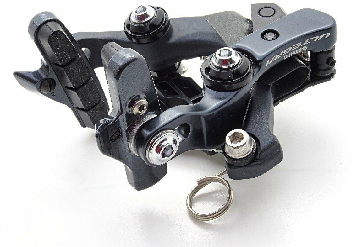 Тормоз для велосипеда Shimano клещевой Ultegra, R8010, задний, колодки R55C4, IBRR8010R82 тормозные колодки для велосипеда shimano для дискового тормоза m07ti пара пластик y8e598020