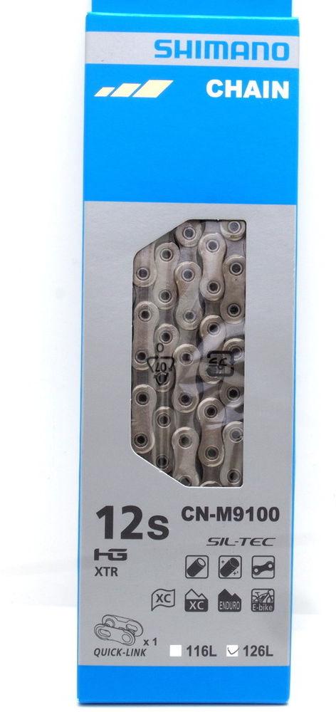 Цепь велосипедная Shimano XTR, M9100, 11/12 скоростей, 116 звеньев, с замком, ICNM9100116Q цена