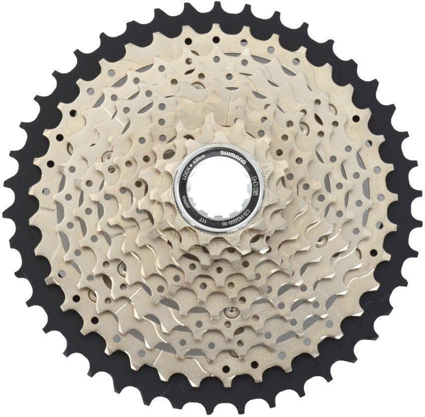 Кассета для велосипеда Shimano HG500, 10 скоростей, 11-42, ICSHG50010142 запчасть shimano xt m771 10ск 11 36 icsm77110136