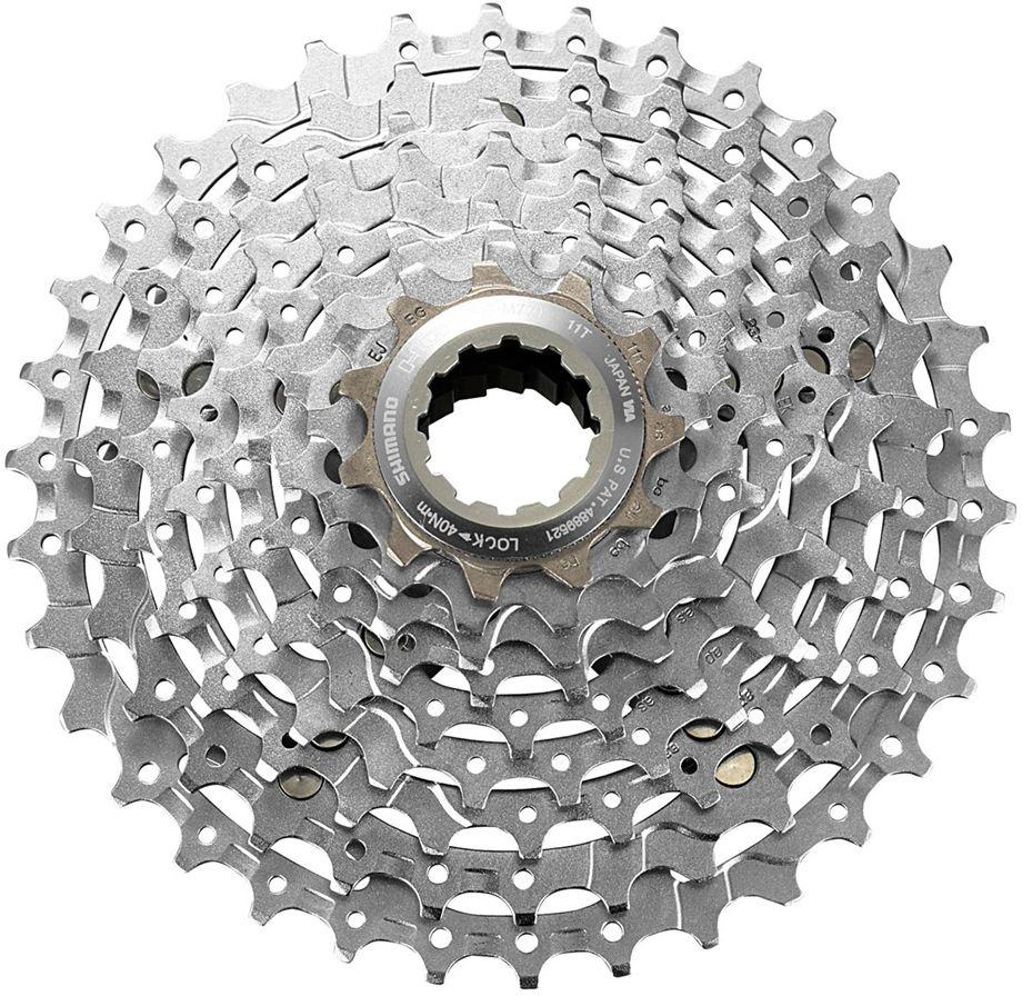 Кассета для велосипеда Shimano XT, M770, 9 скоростей, 11-34, ICSM7709134 запчасть shimano xt m770 9 ск 11 32