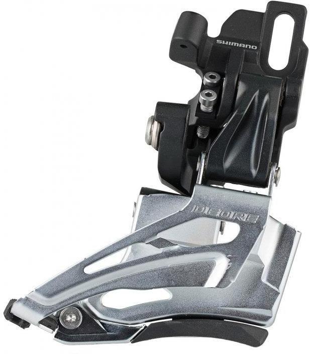 Переключатель передний Shimano Deore, M618-D, на упор, для 2x10, IFDM618D6, черный