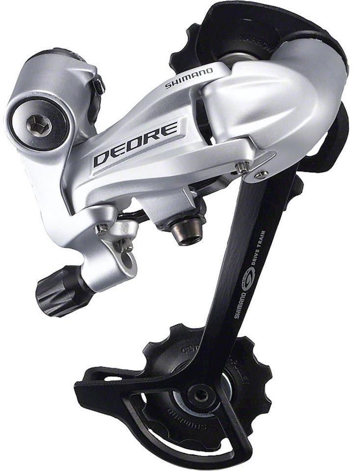Переключатель задний Shimano Deore, M591, SGS, 9 скоростей, IRDM591SGSS, серебристый переключатель задний shimano altus m370 sgs 9 скоростей цвет черный