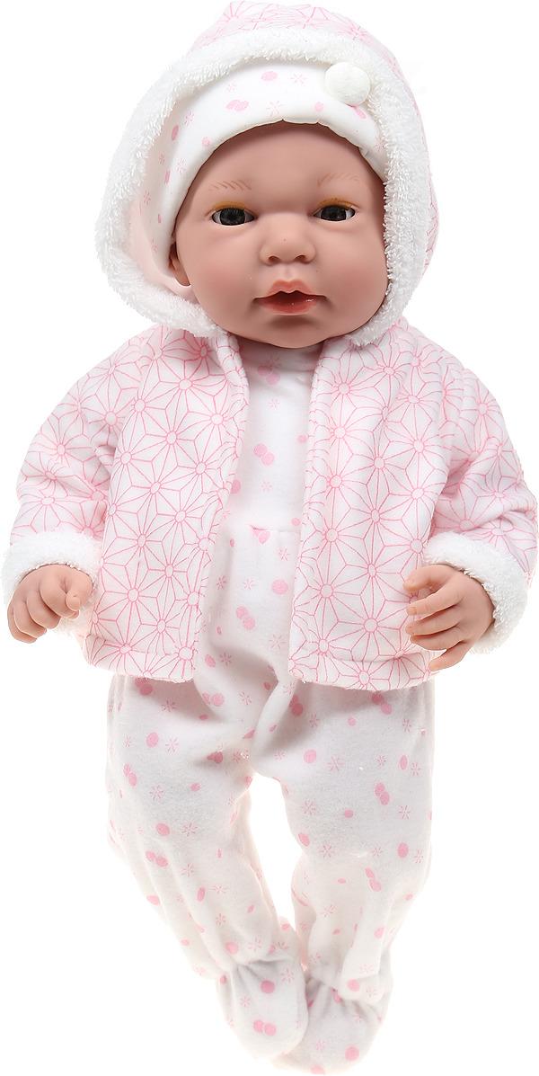 Пупс Arias Elegance, в одежде, с закрывающимися глазами, с соской, Т16351, розовый, 38 см пупс arias elegance в одежде с соской и конвертом 42 см т11098
