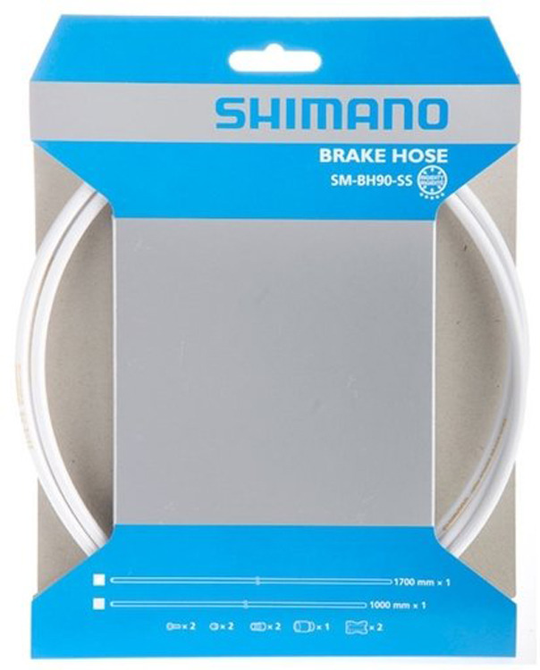 Фото - Гидролиния Shimano BH90-SS, 1000 мм, обрезной, ESMBH90SSW100, белый запчасть shimano tourney ty21 b ss 6ск ardty21bssbl
