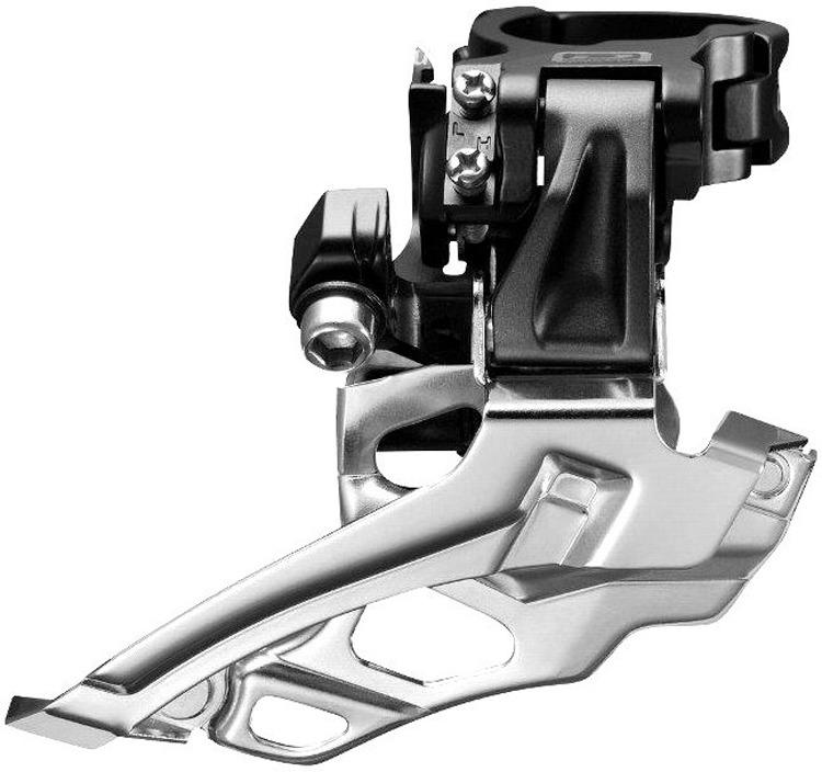 Переключатель передний Shimano Deore, M618-D, на упор, для 2x10, IFDM618DT6, черный