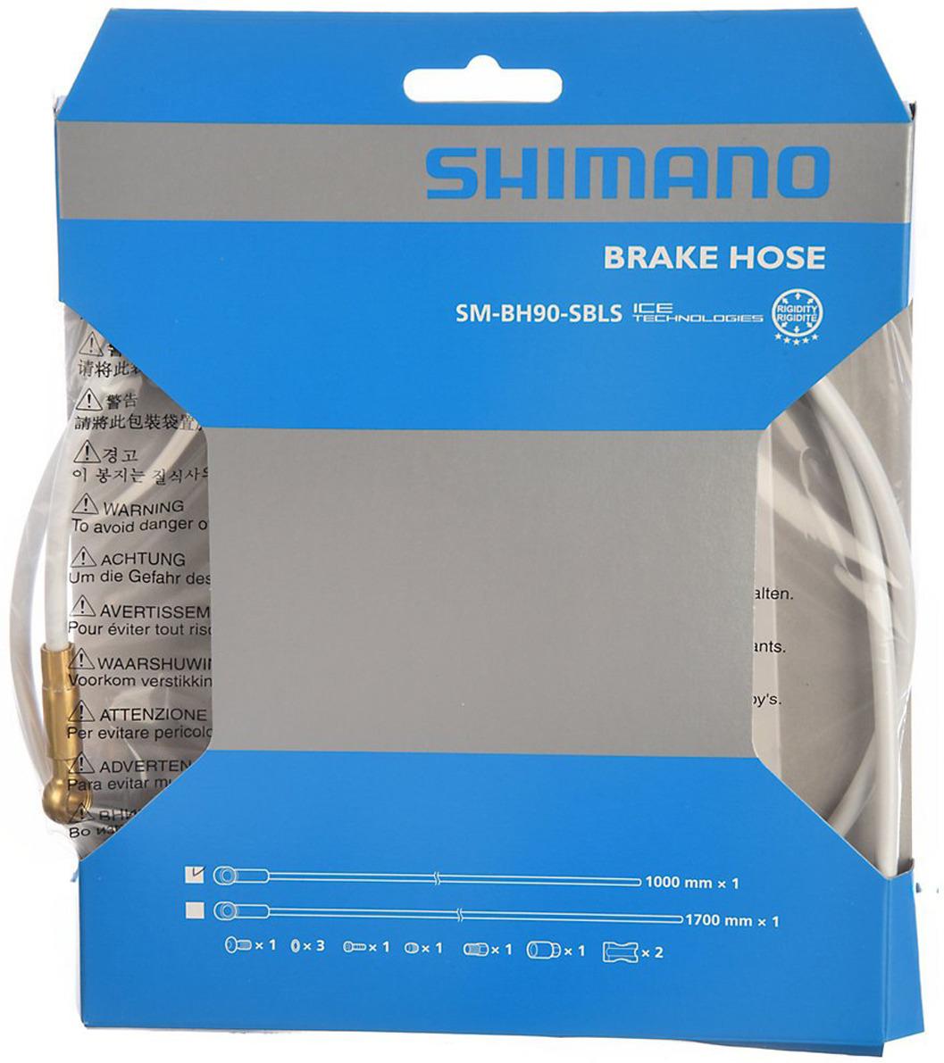 Гидролиния Shimano XTR, BH90-SBLS, 1000 мм, обрезной, TL-BH61, ISMBH90SBLSW100, белый комплект колес xtr m9000 tl f 15 r12мм e thru 29 c lock с lock ring арт ewhm9000lfere9x