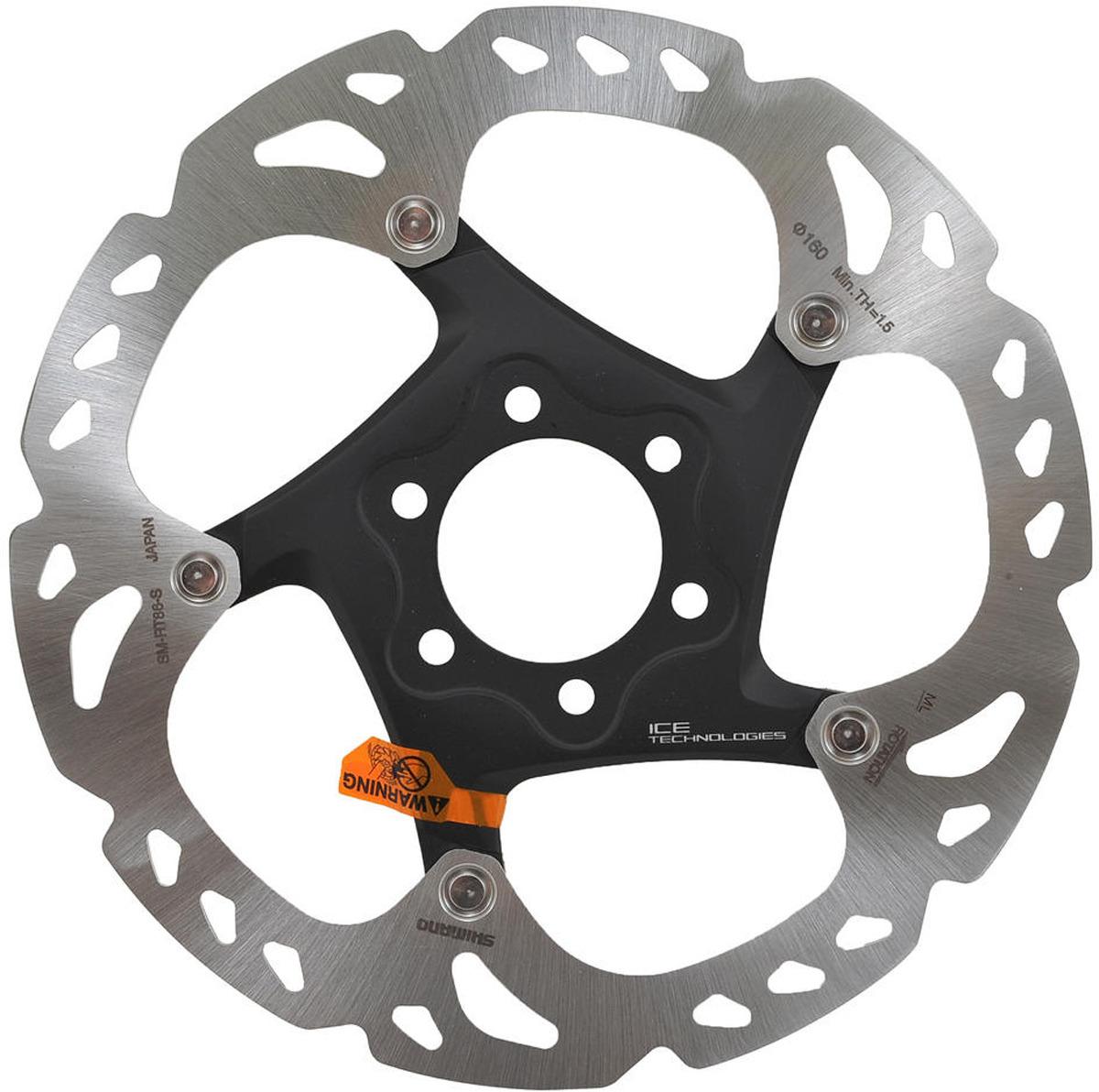 Тормозной диск для велосипела Shimano XT, RT86, 160 мм, 6-болт, ISMRT86S2