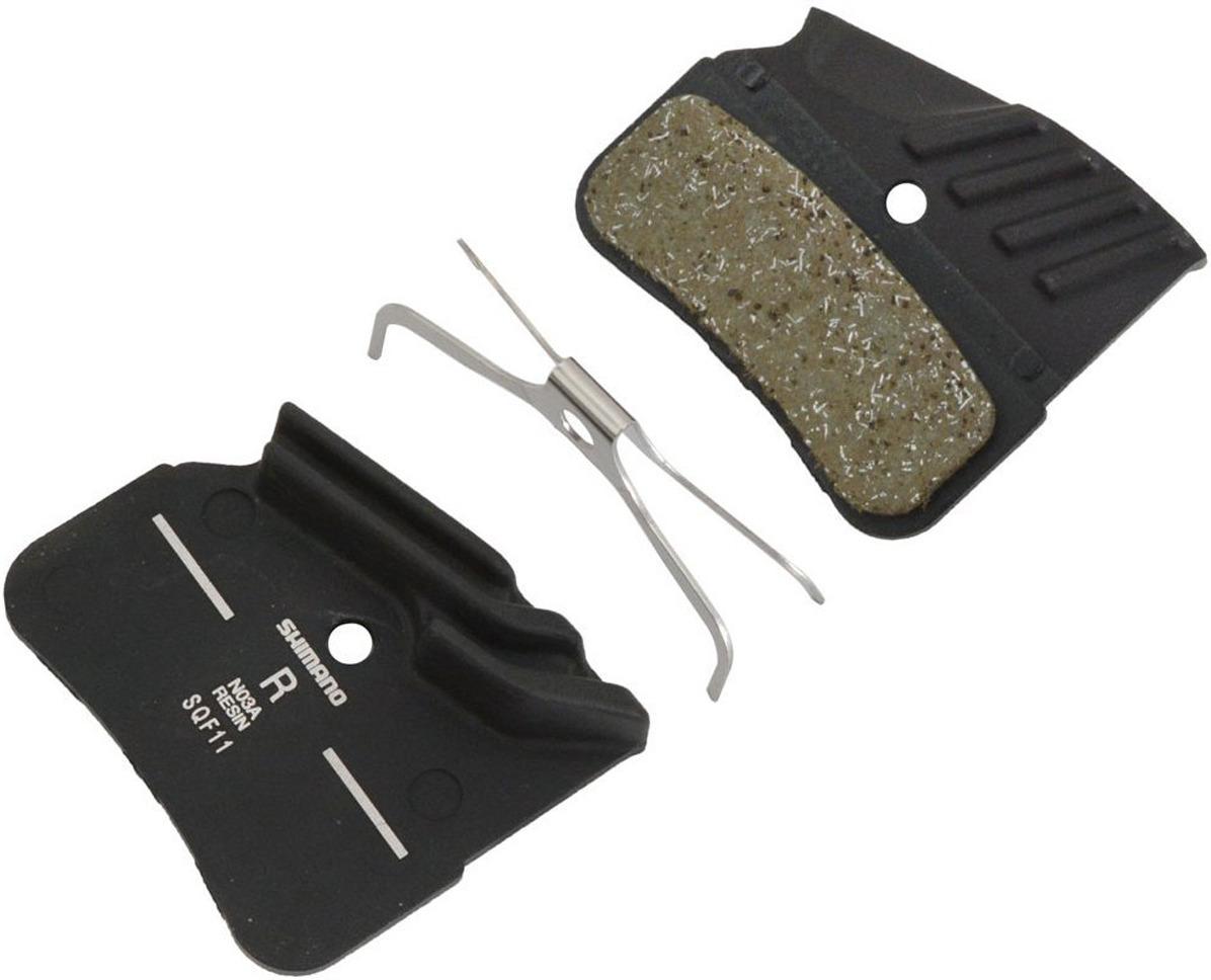 Тормозные колодки для велосипеда Shimano N03A, полимерные c кулером, с пружиной, Y1XD98010, 2 шт запчасть shimano mt15 29 c lock