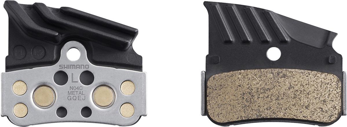 Тормозные колодки для велосипеда Shimano N04C, металл с кулером, с пружиной, Y1XD98020, 2 шт запчасть shimano n04c y1xd98020