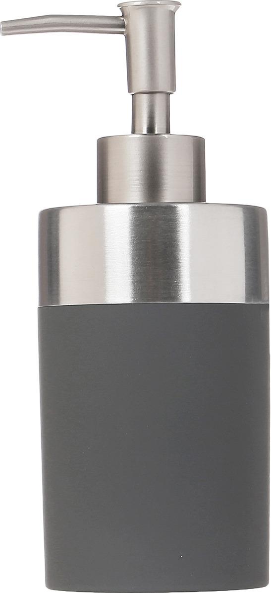 Диспенсер для мыла Axentia Lena, 122372, серый, 300 мл диспенсер для мыла axentia lena 6 5 х 6 5 х 21 см