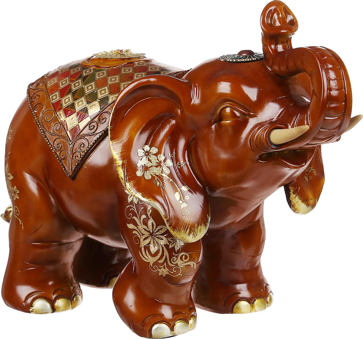 Фигурка декоративная Lefard Слон Стремление к миру, 114-306, розовый, 44 х 21,5 х 29 см цена 2017