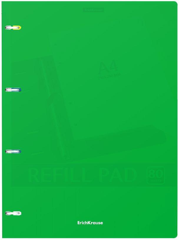 Тетрадь общая ErichKrause Classic, на кольцах, A4, в клетку, 47372, зеленый, 80 листов музыкальный сувенир нотная тетрадь ноты рахманинов а4 16 листов цвет обложки черный