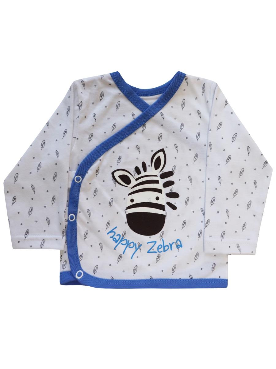 Кофта КотМарКот кофточка для мальчика котмаркот цвет белый голубой 7618 размер 86