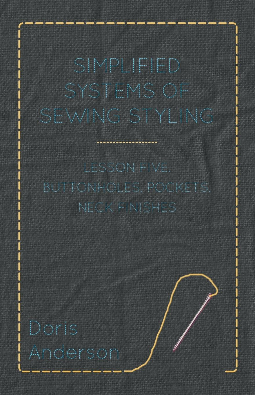 Doris Anderson Simplified Systems of Sewing Styling - Lesson Five, Buttonholes, Pockets, Neck Finishes high neck cross back lace bralette