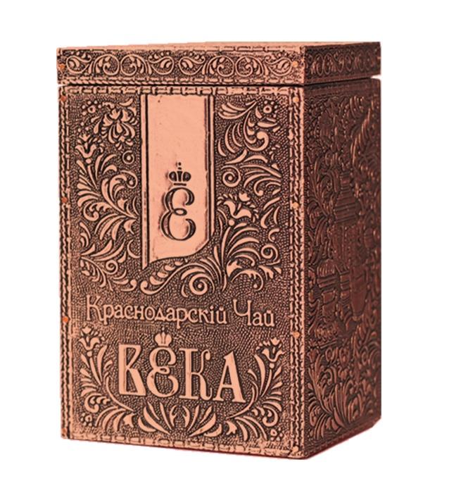Чай черный Краснодарский. Металлическая шкатулка (100 гр.)