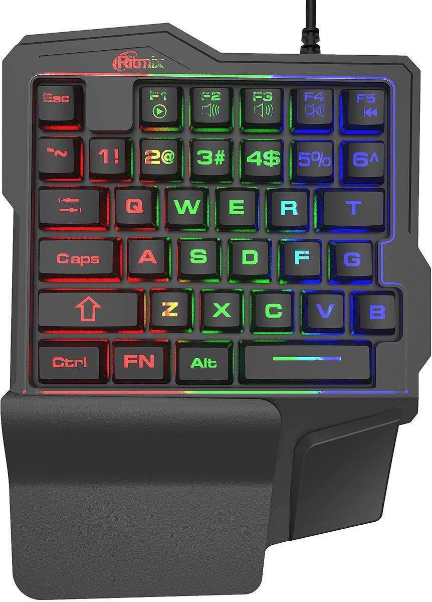 лучшая цена Игровая клавиатура Ritmix RKB-209 BL Gaming, черный