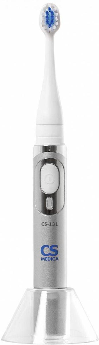 Электрическая зубная щетка CS Medica SonicPulsar CS-131 звуковая, серебристый