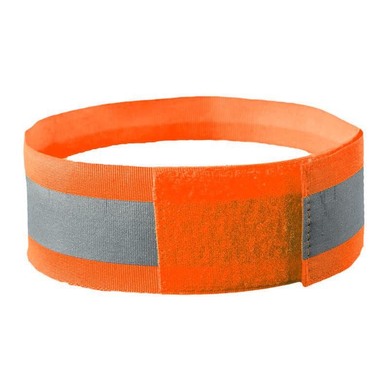 Светоотражатель для велосипеда PROTECT сигнальная повязка на руку, оранжевый