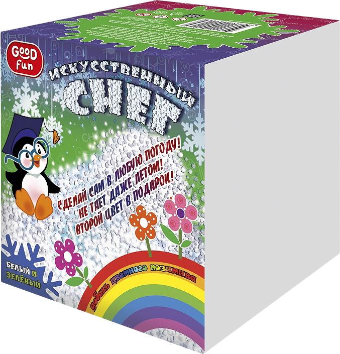 Набор для изготовления игрушек Good Fun Искусственный снег, Р96669, зеленый набор для опытов good fun искусственный снег большой набор gf008