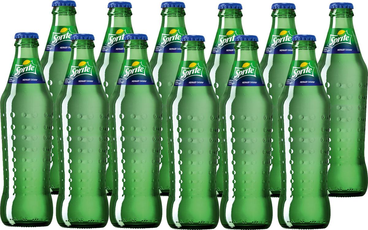 Газированный напиток Sprite сильногазированный, стекло, 12 шт по 330 мл