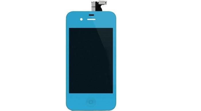 Дисплей для телефонов Apple iPhone 4S, голубой чехлы накладки для телефонов кпк phone shell iphone6 iphone5s 6plus 4s