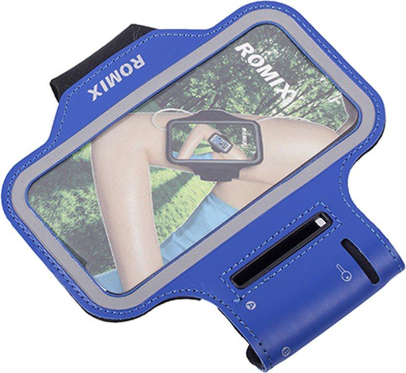 Чехол для сотового телефона Romix Arm belt 4.7, синий romix rh18 sports arm bag