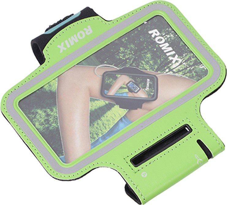 Чехол для сотового телефона Romix Arm belt 5.5, зеленый romix rh18 sports arm bag