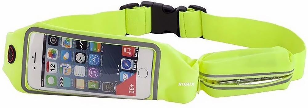 Чехол для сотового телефона Romix Touch Screen Waist Bag 4.7, зеленый romix rh18 sports arm bag