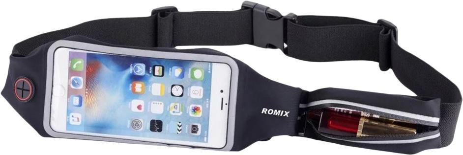 Чехол для сотового телефона Romix Touch Screen Waist Bag 5.5, черный пояс для телефона romix rh 01 5 5 30375 black