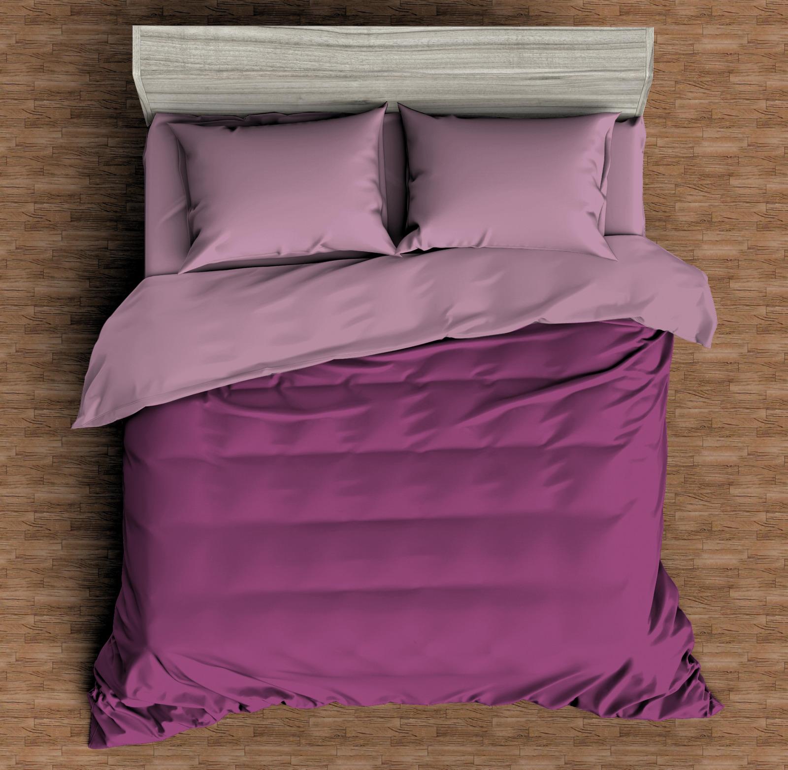 """Комплект постельного белья Amore Mio Макосатин """"Топаз"""", 9813, розовый, евро, наволочки 70x70"""