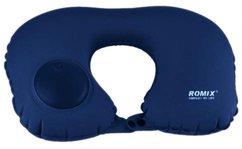 Подушка надувная Romix RH34, синий подушка romix rh 34 30358 green