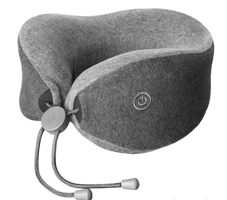 Фото - Подушка для шеи Xiaomi Tech Lefan Comfort-U Pillow Massager (LRS100), серый pantheon u pillar pillow travel pillow с капюшоном с капюшоном с капюшоном u образная подушка для шеи car office nap pillow navy со шляпой