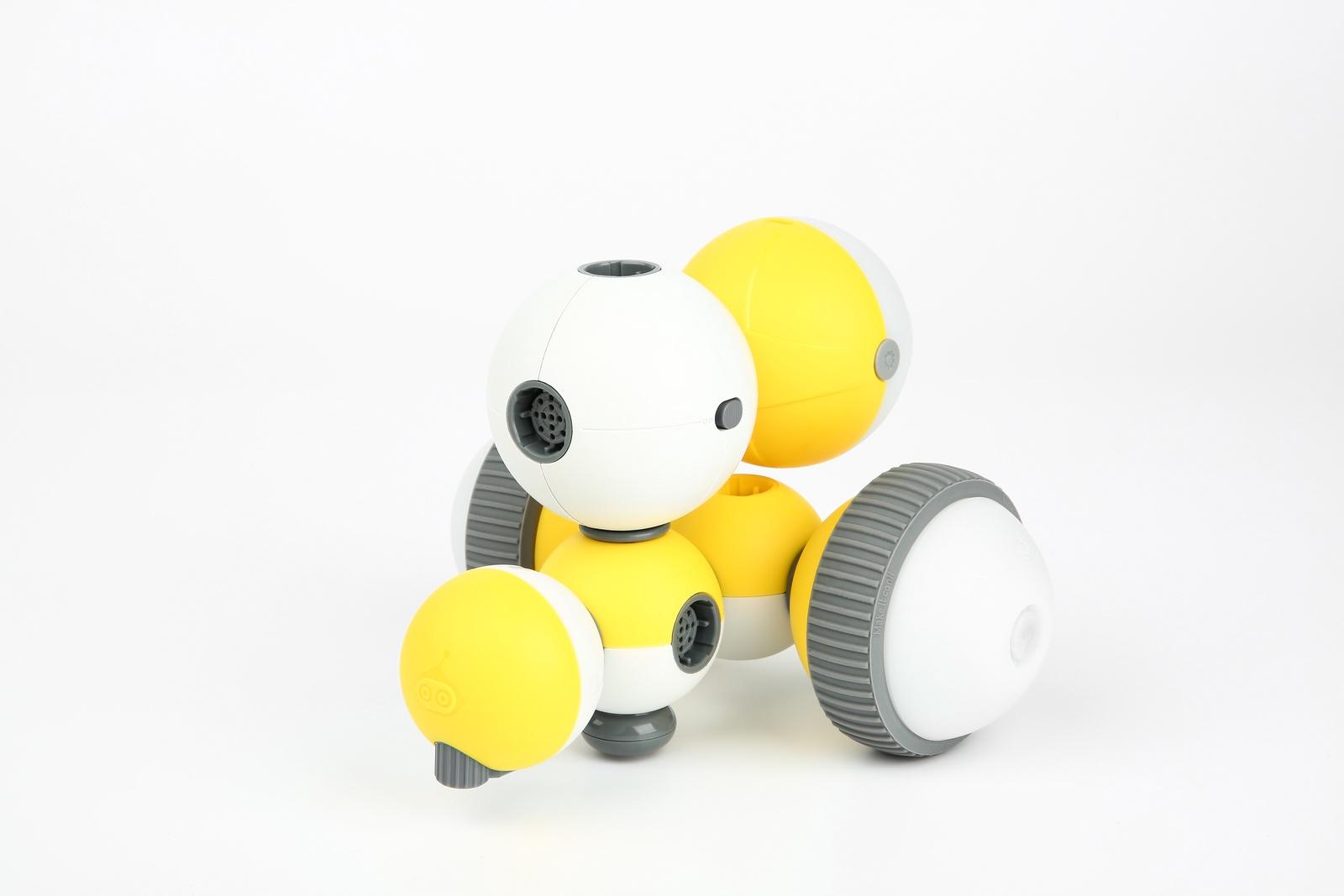 Программируемый робот Bell Robot Детский конструктор-робот Mabot A, желтый, белый Бесконечные возможности и веселье!Потрясающая игрушка для STEAM...