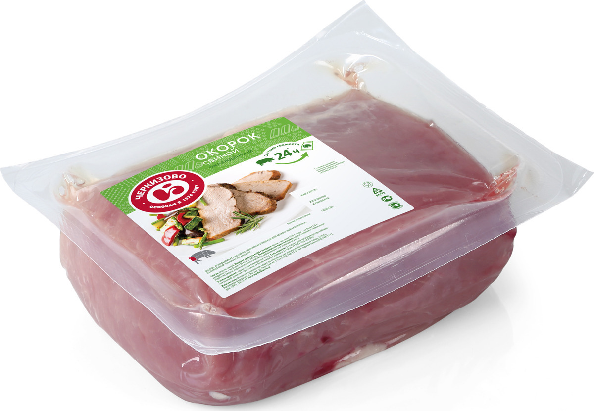Свинина свежая Черкизово Окорок, без кости, охлажденная, 1 кг
