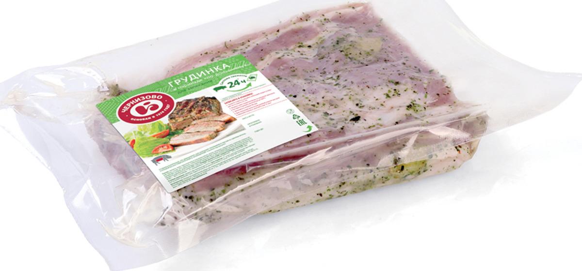 Свинина свежая Черкизово Грудинка, в маринаде по домашнему, для запекания, охлажденная, 1,1 кг сайра охлажденная