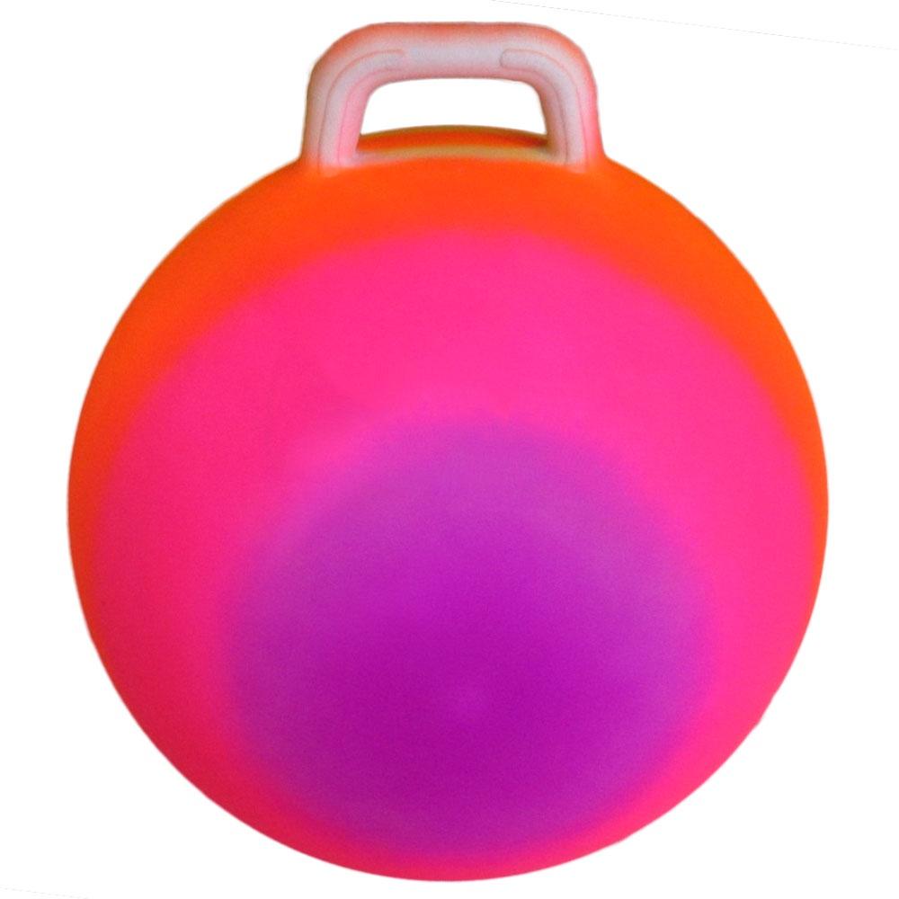 Мяч попрыгун с ручкой 45 см. T07535 цвет радуга цена