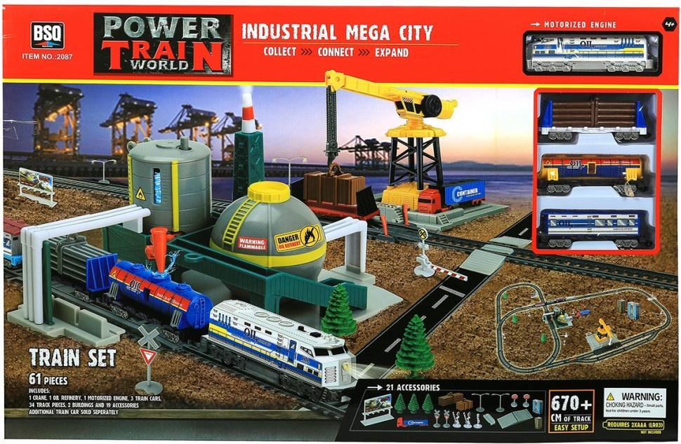 Железная дорога BSQ Power Train World 2087 железная дорога kidkraft игровой набор жд станция waterfall station train set