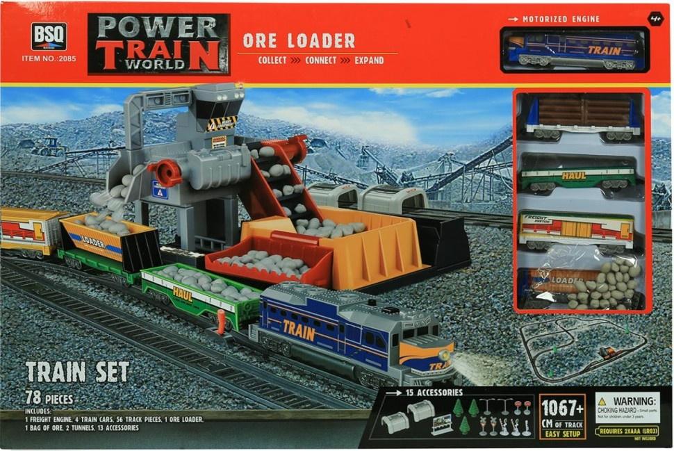 Железная дорога BSQ Power Train World 2085 железная дорога kidkraft игровой набор жд станция waterfall station train set
