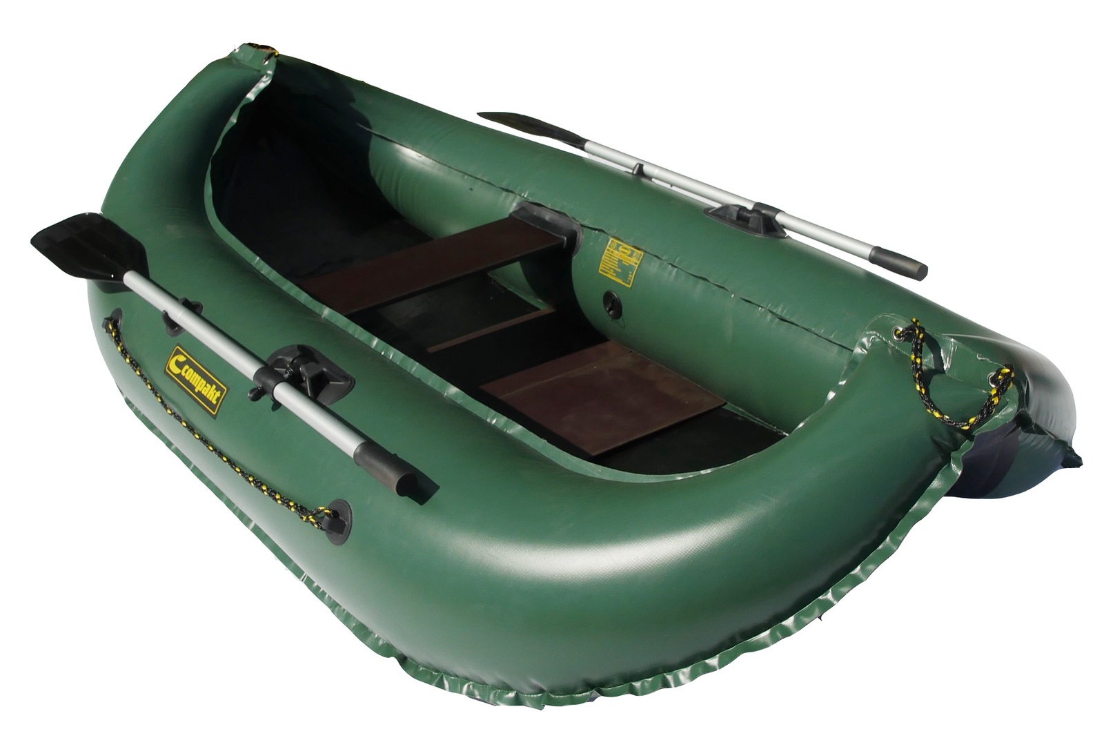Надувная лодка Leader КОМПАКТ 240, гребная, цвет зеленый