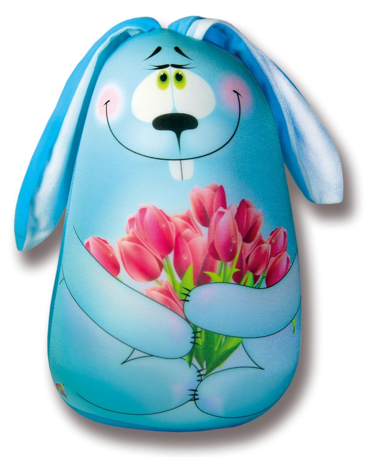 Подушка-игрушка Штучки, к которым тянутся ручки антистрессовая Элвин, голубой