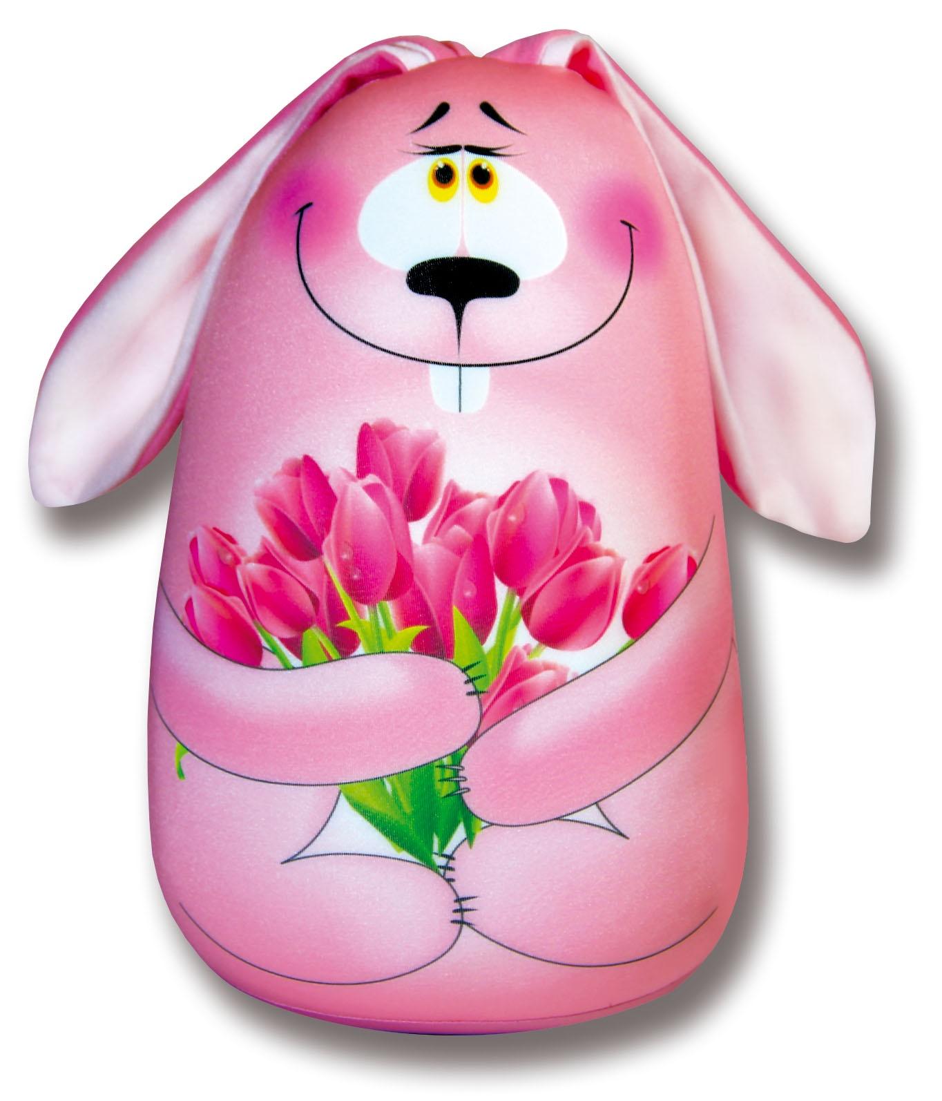 Подушка-игрушка Штучки, к которым тянутся ручки антистрессовая Элвин, розовый