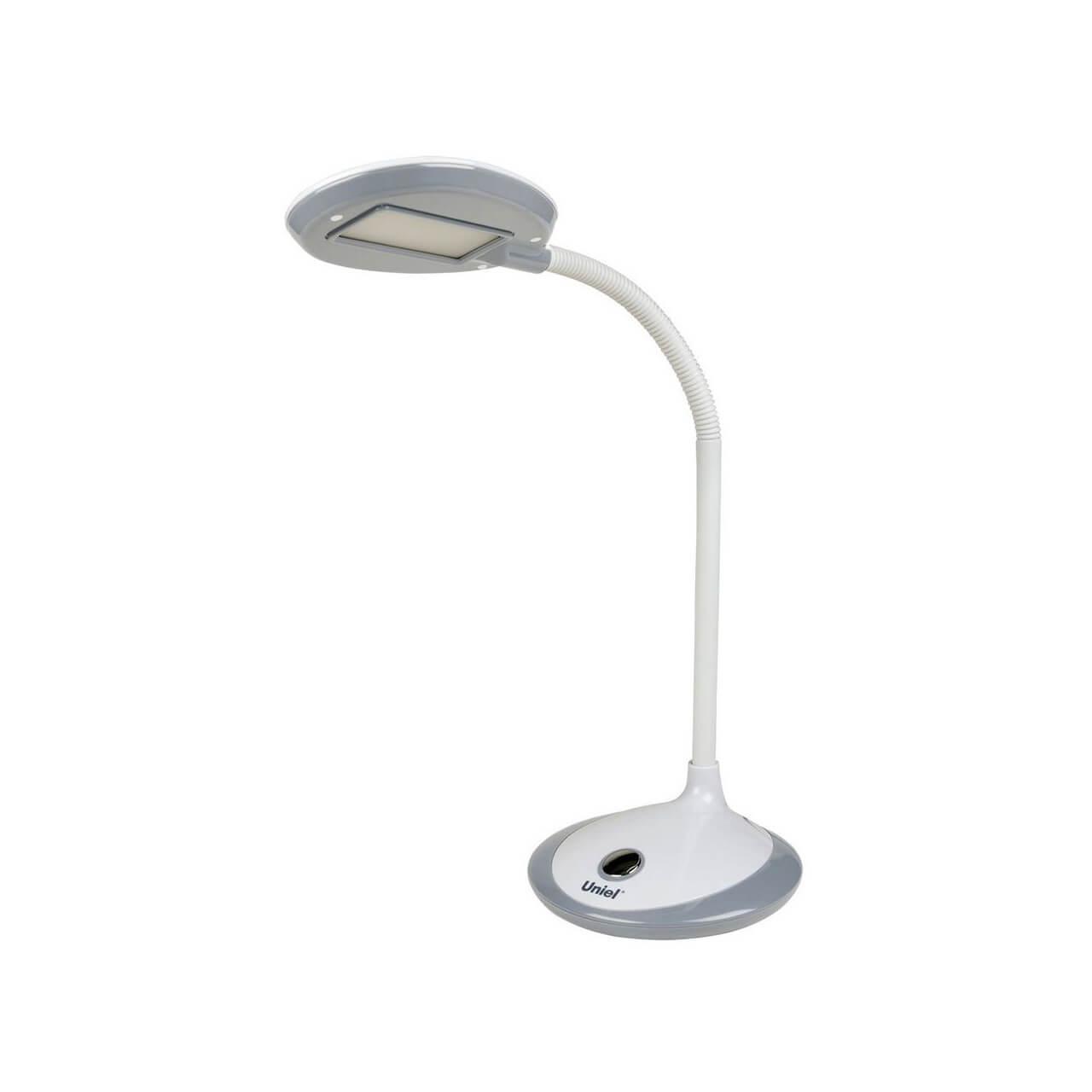 Настольный светильник Uniel TLD-527 Grey/LED/400Lm/4500K, LED, 4 Вт настольный led светильник uniel tld 531 4w 4500k серый с белым