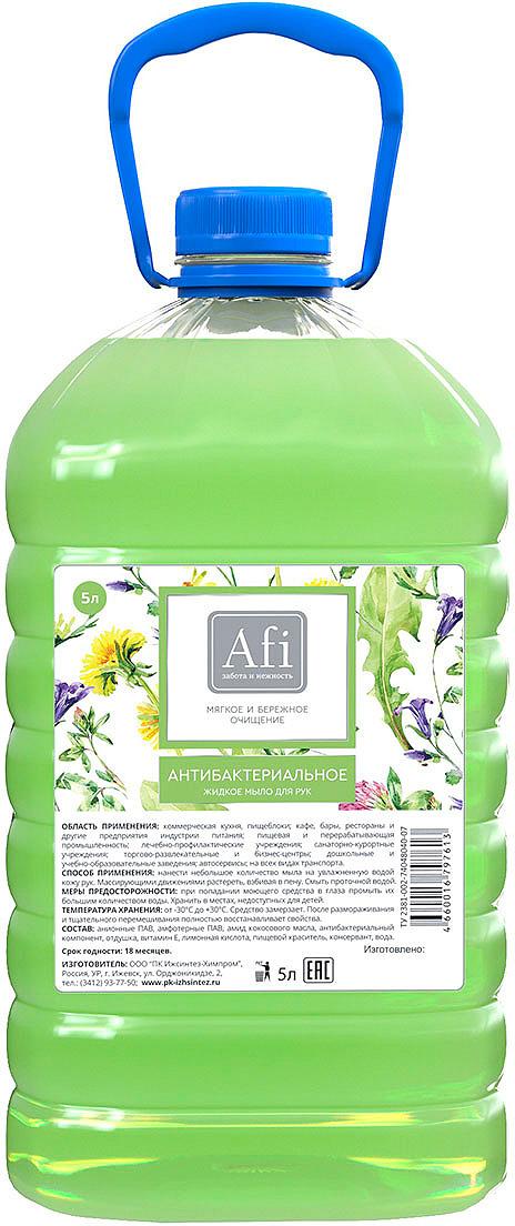 Жидкое мыло Afi Антибактериальный, 5 л жидкое мыло cobra clean care pluse 5 л
