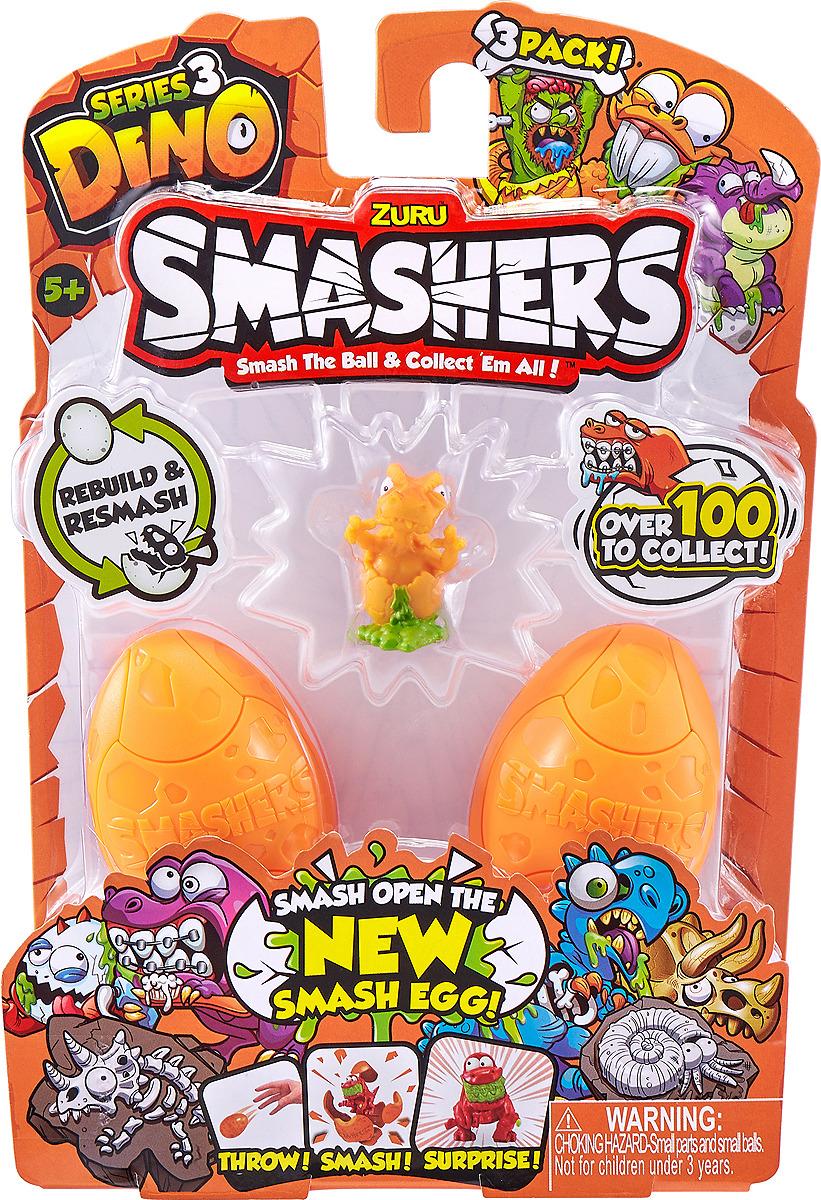 Фигурка Zuru Smashers Дино-сюрприз в яйце, 7437, 3 шт