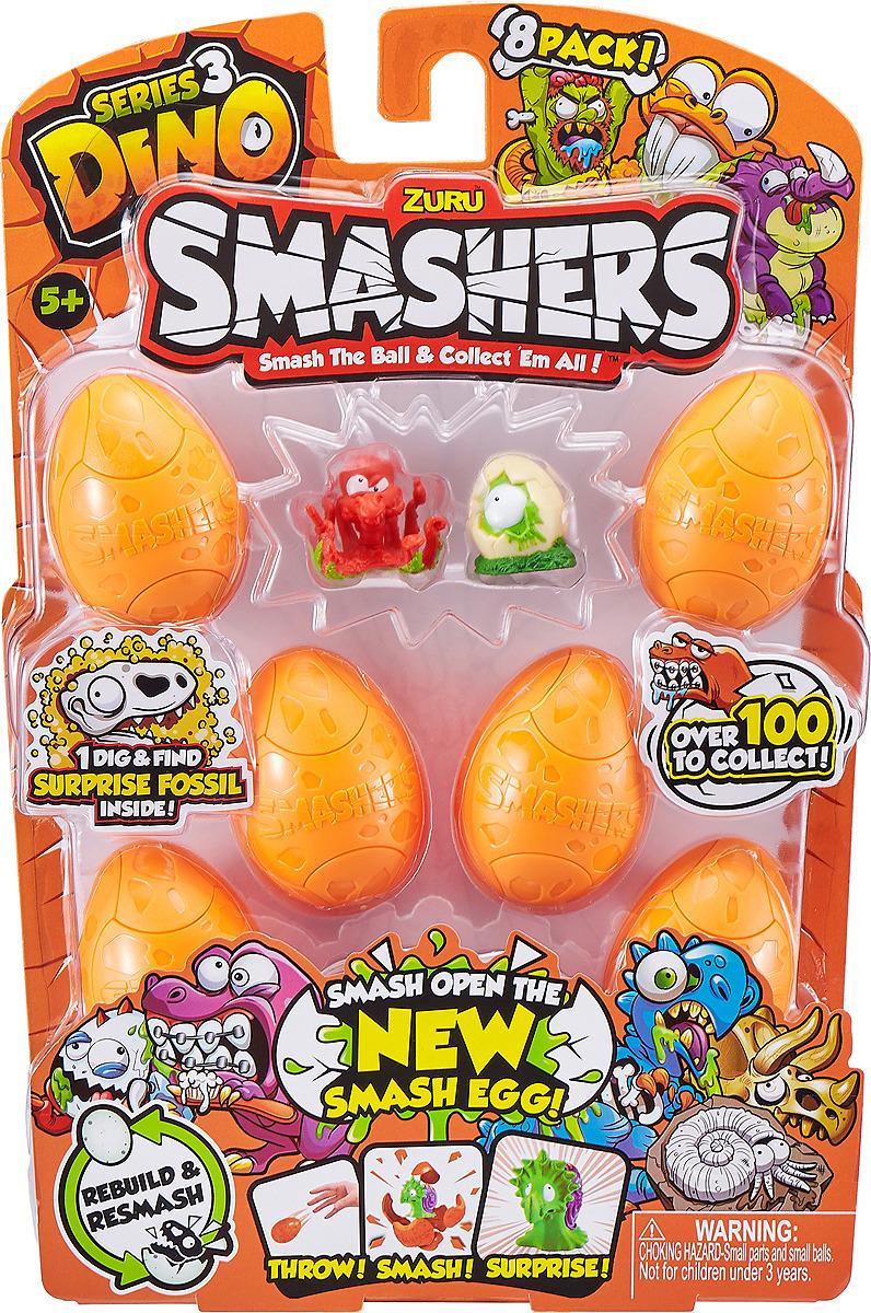 Фигурка Zuru Smashers Дино-сюрприз в яйце, 7438, 8 шт